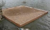 Radeau refuge pour la nidification des sternes
